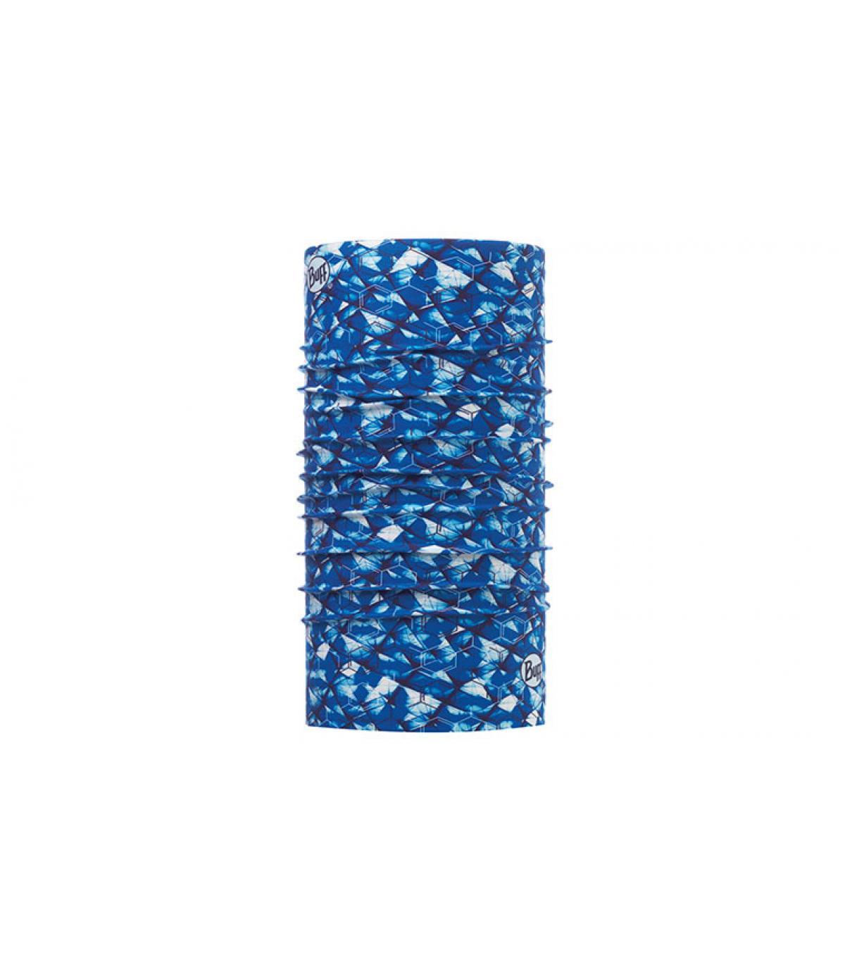 Buff bedruckt blau weiß