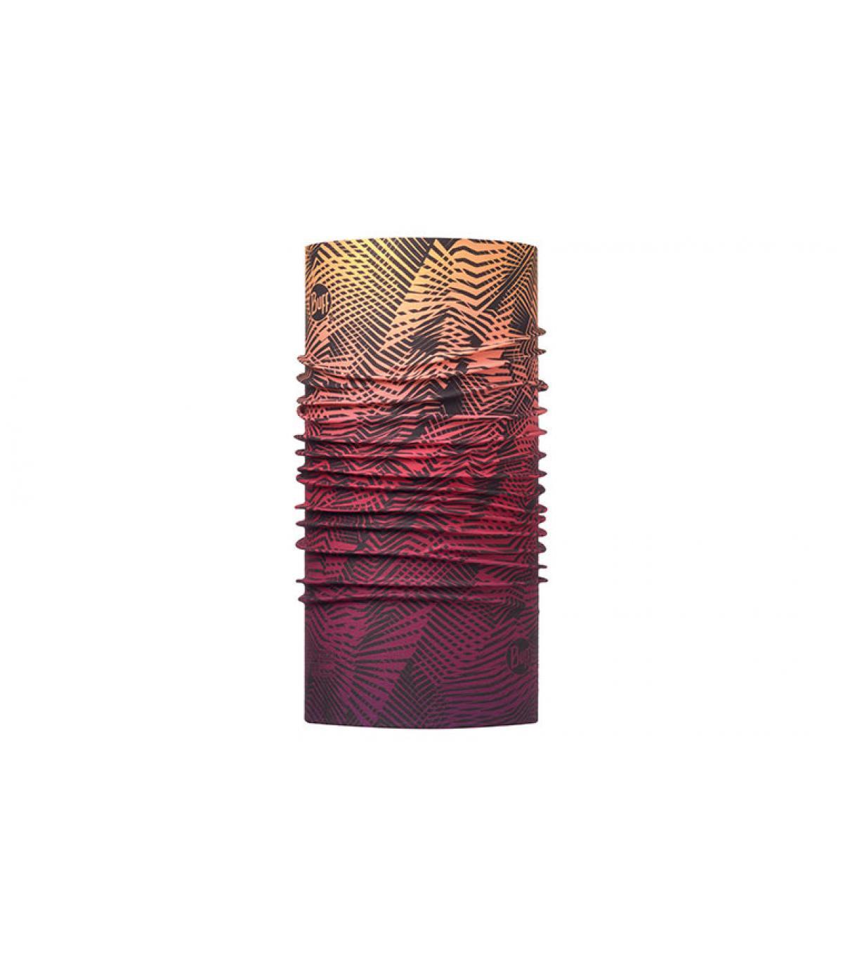 Buff bedruckt lila Abstufung