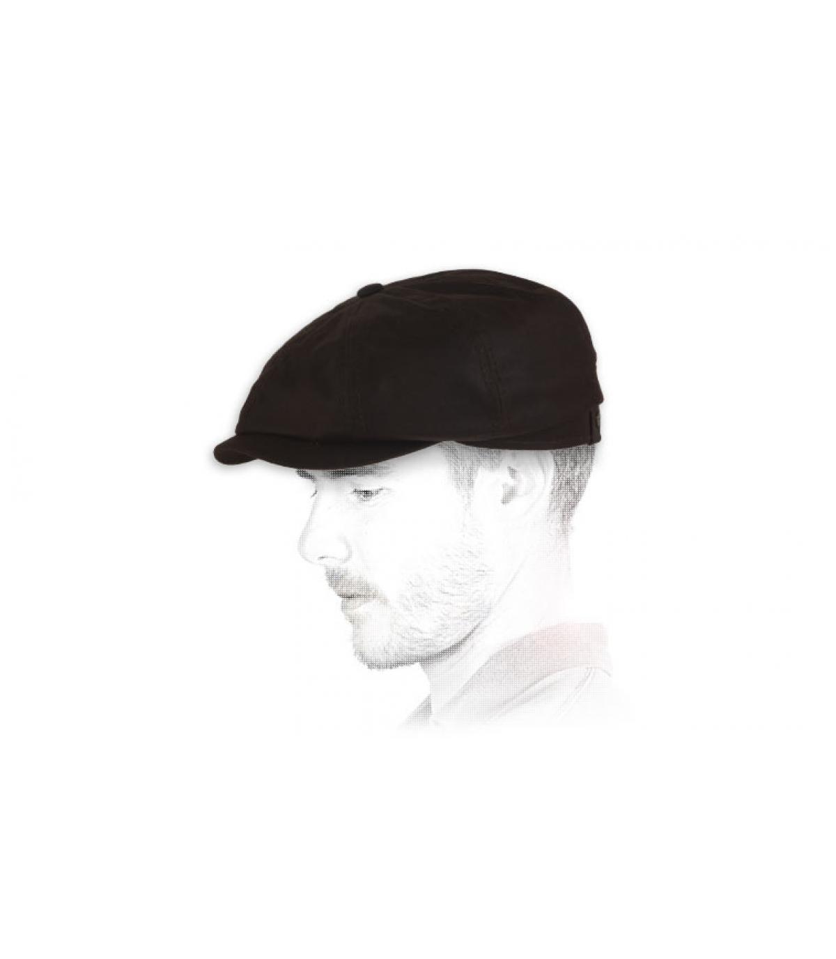 Details Braune Hatteras aus gewachster Baumwolle  - Abbildung 3