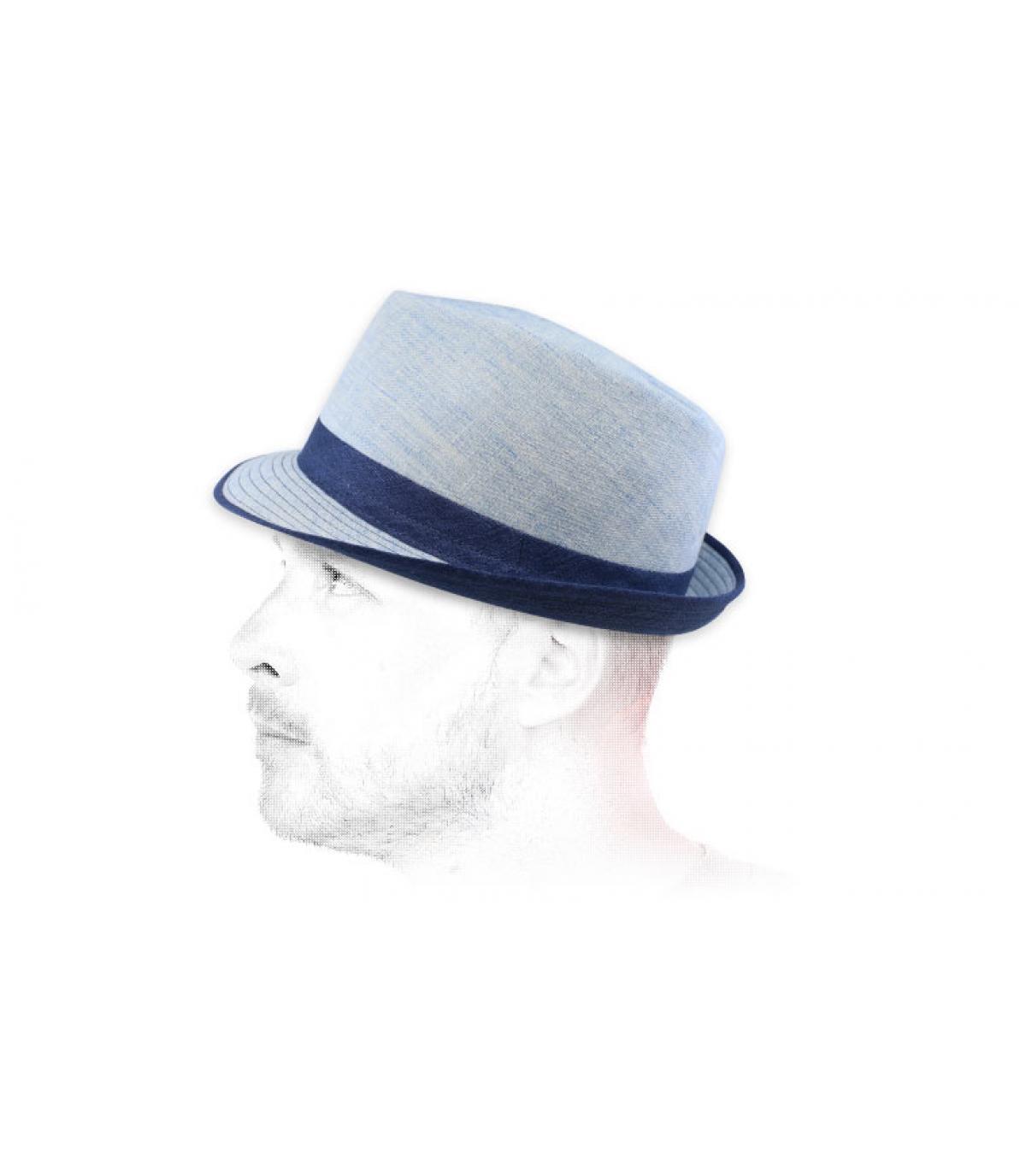 Trilby Stoff blau