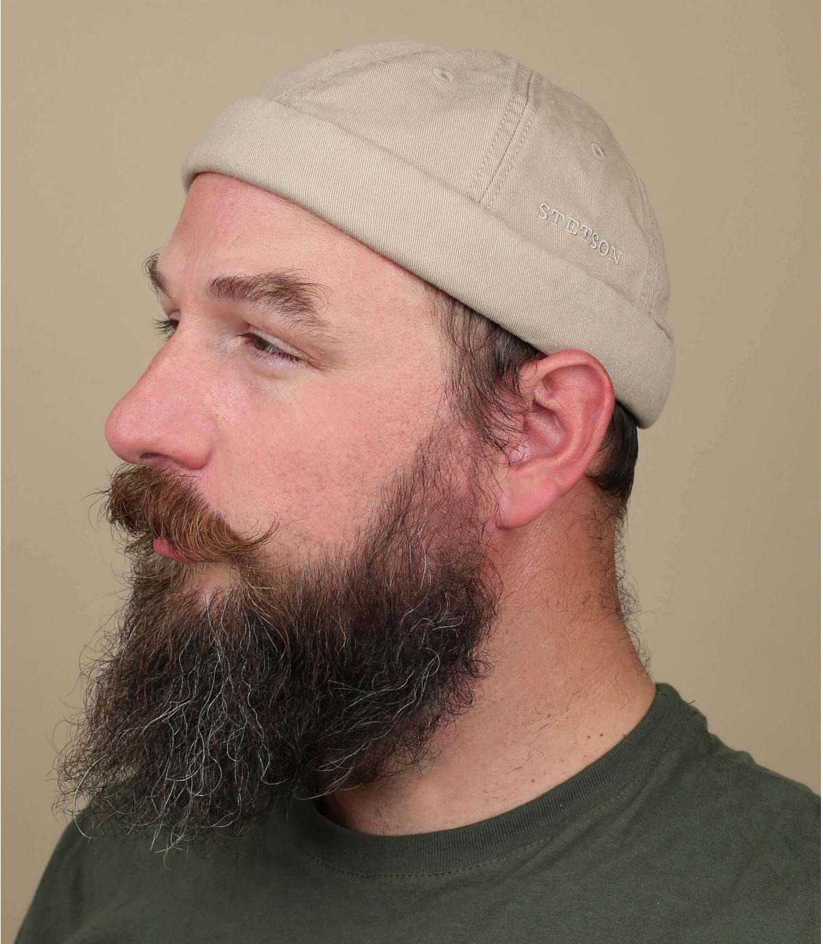 Docker Mütze Baumwolle beige