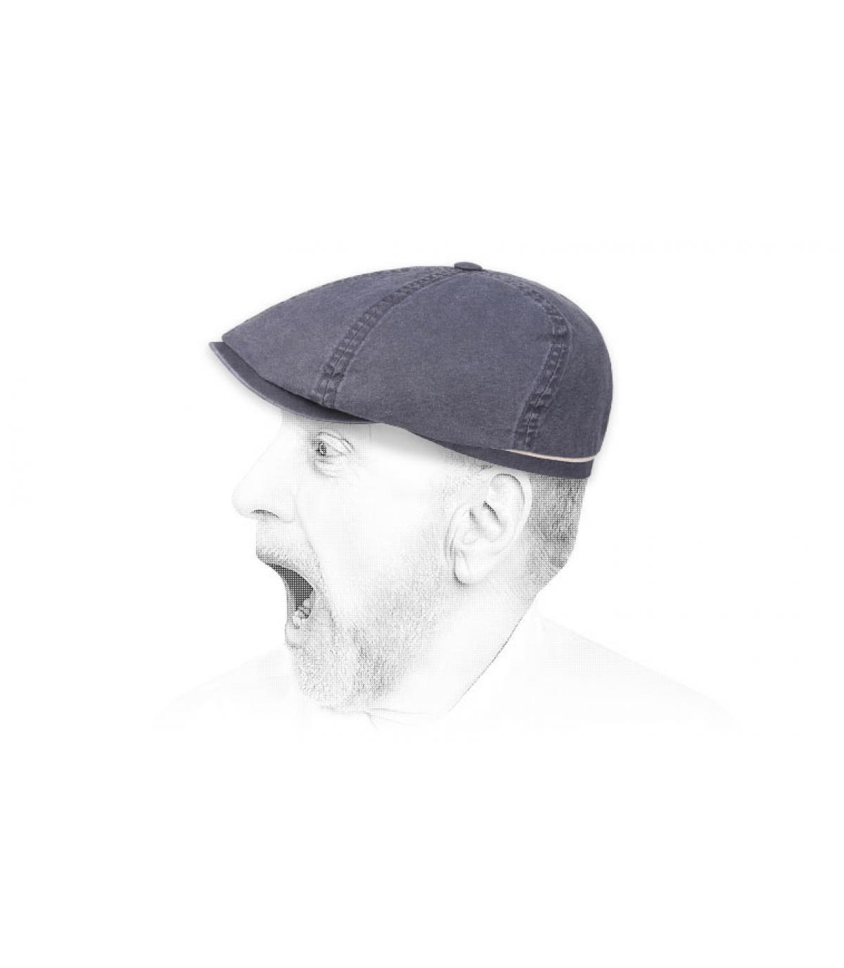 Zeitungsjungen Cap Bio Baumwolle blau
