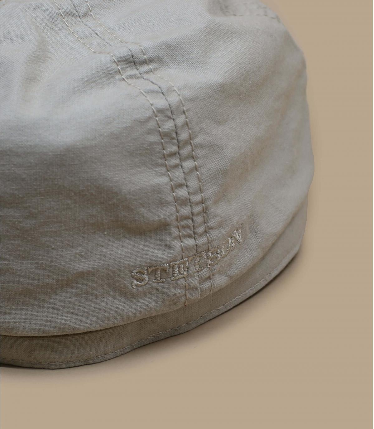Details Brooklyn cap waxed cotton organic beige - Abbildung 2
