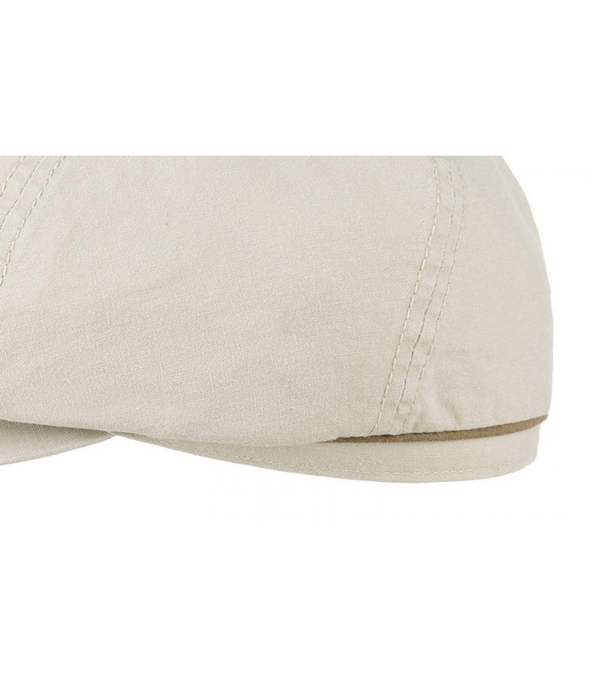 Details Brooklyn cap waxed cotton organic beige - Abbildung 3