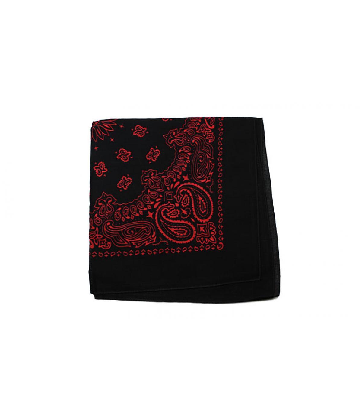 Bandana schwarz rot