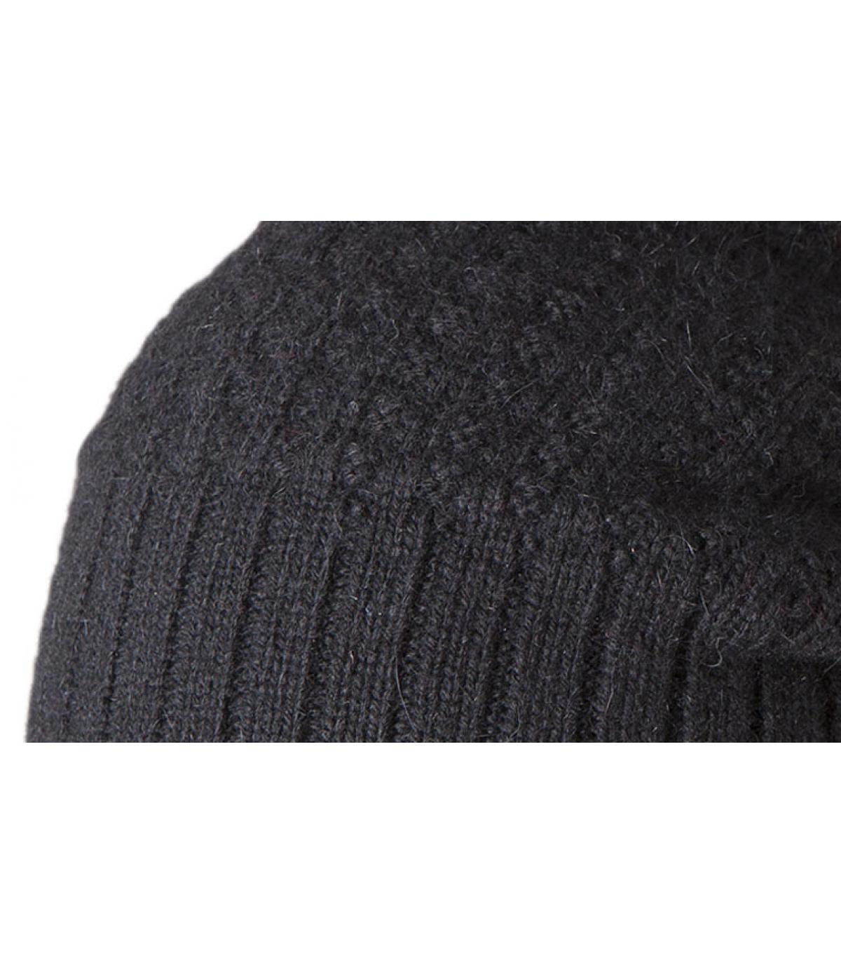 Details Schwarze Mütze Hudson  - Abbildung 2