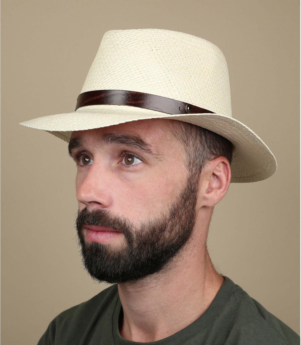 Panama Strohhut beige