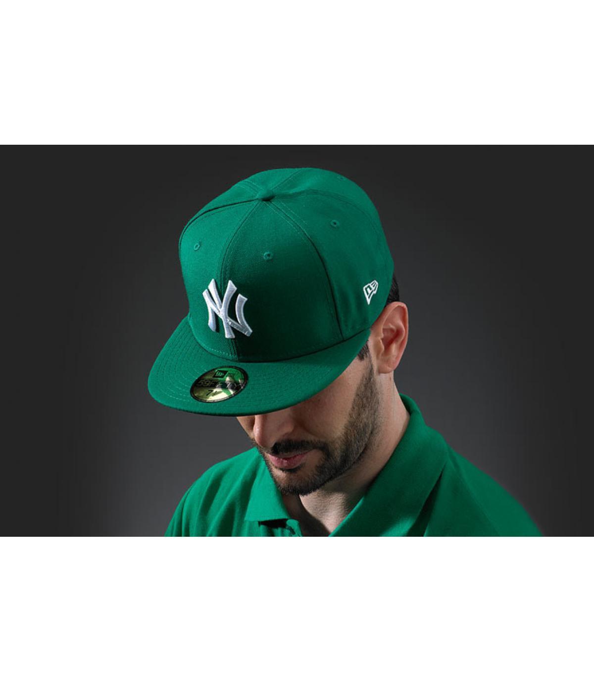 Cap New York grün