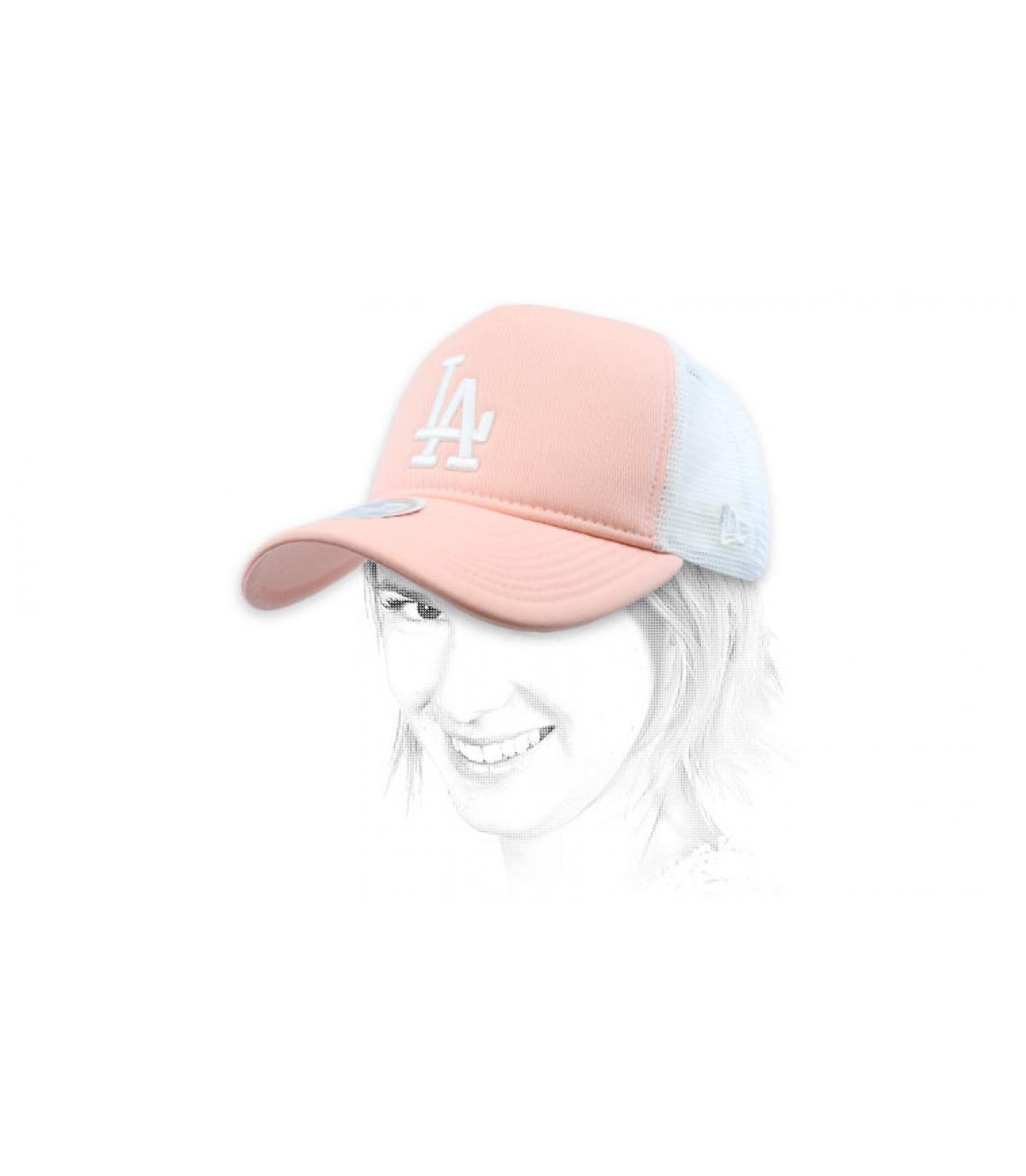 Damen Trucker LA rosa