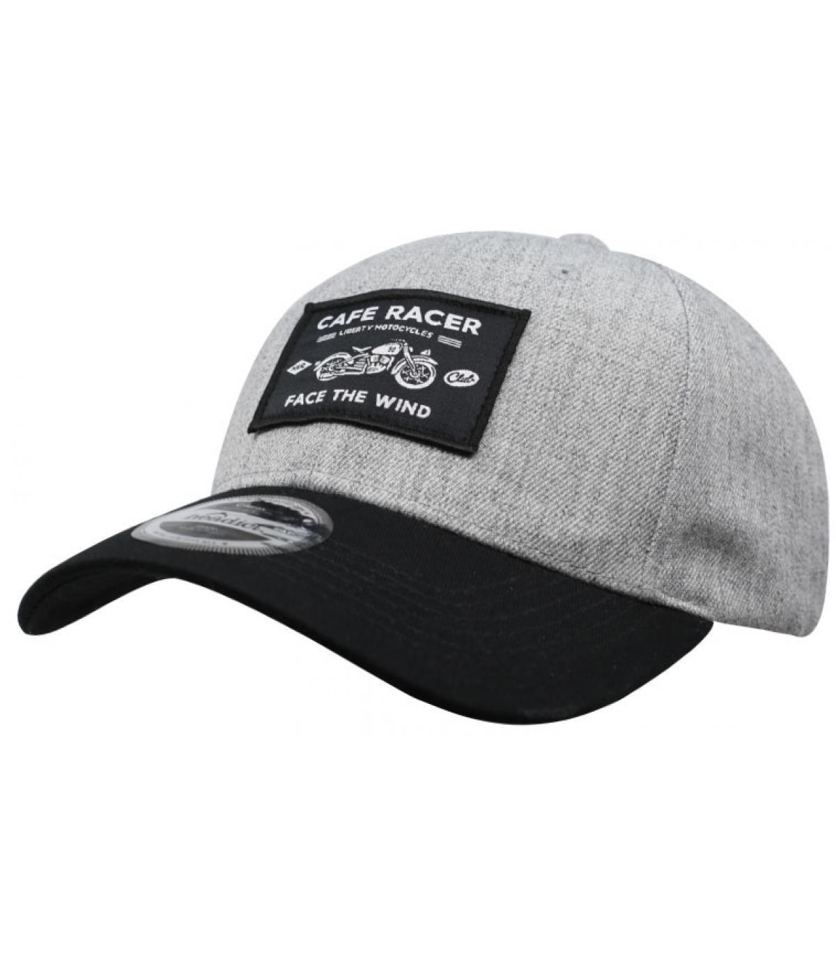 Cap Cafe Racer grau