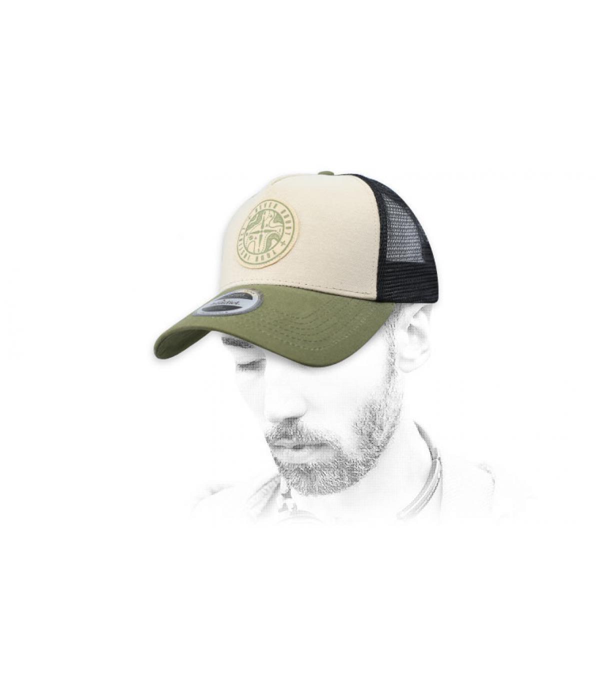 Trucker Kompass olivgrün