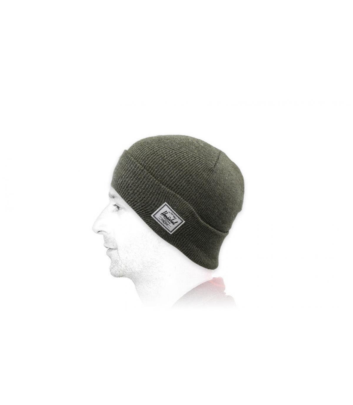 Mütze mit Rand grün Herschel