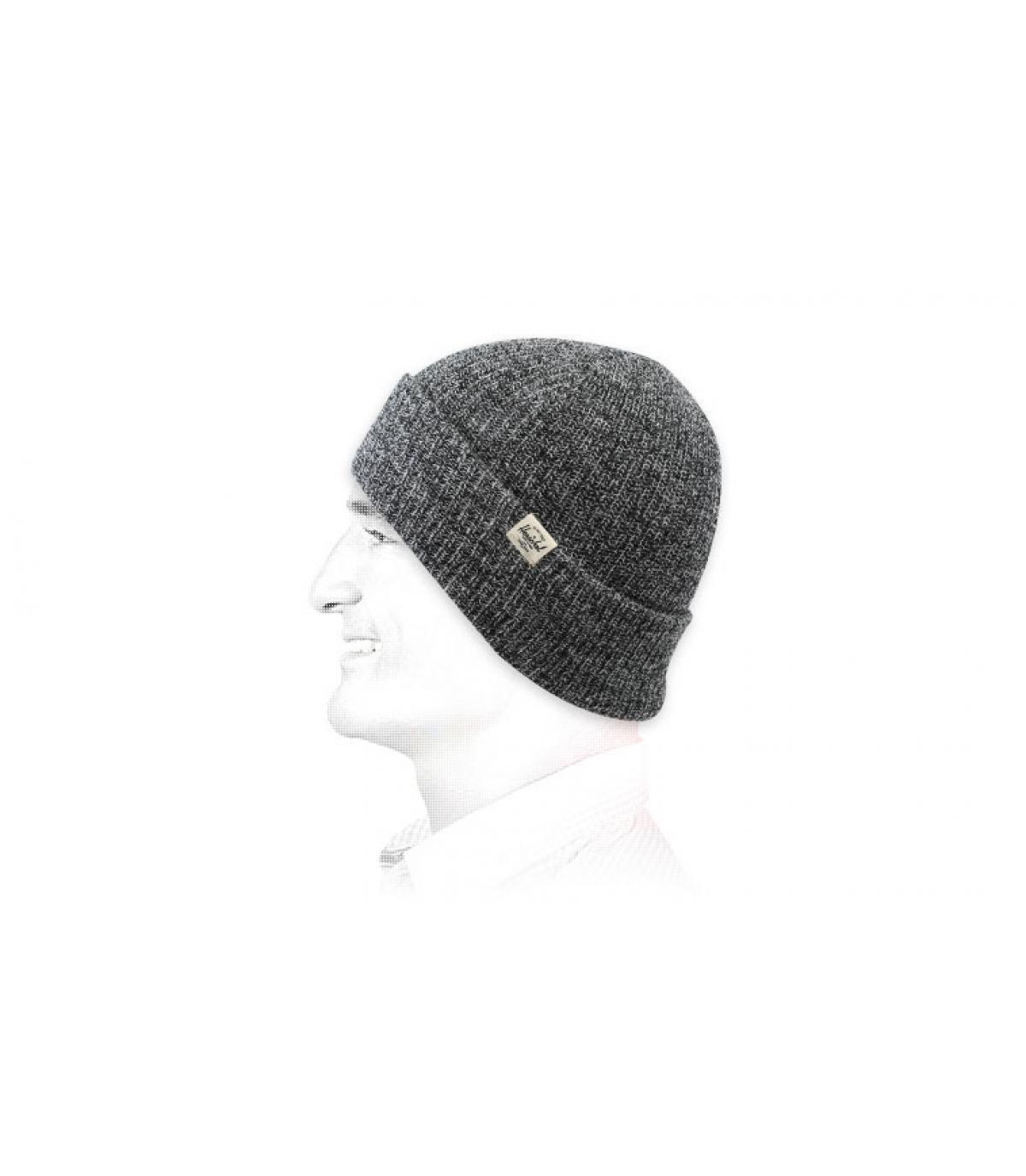 Mütze mit Rand grau meliert Herschel