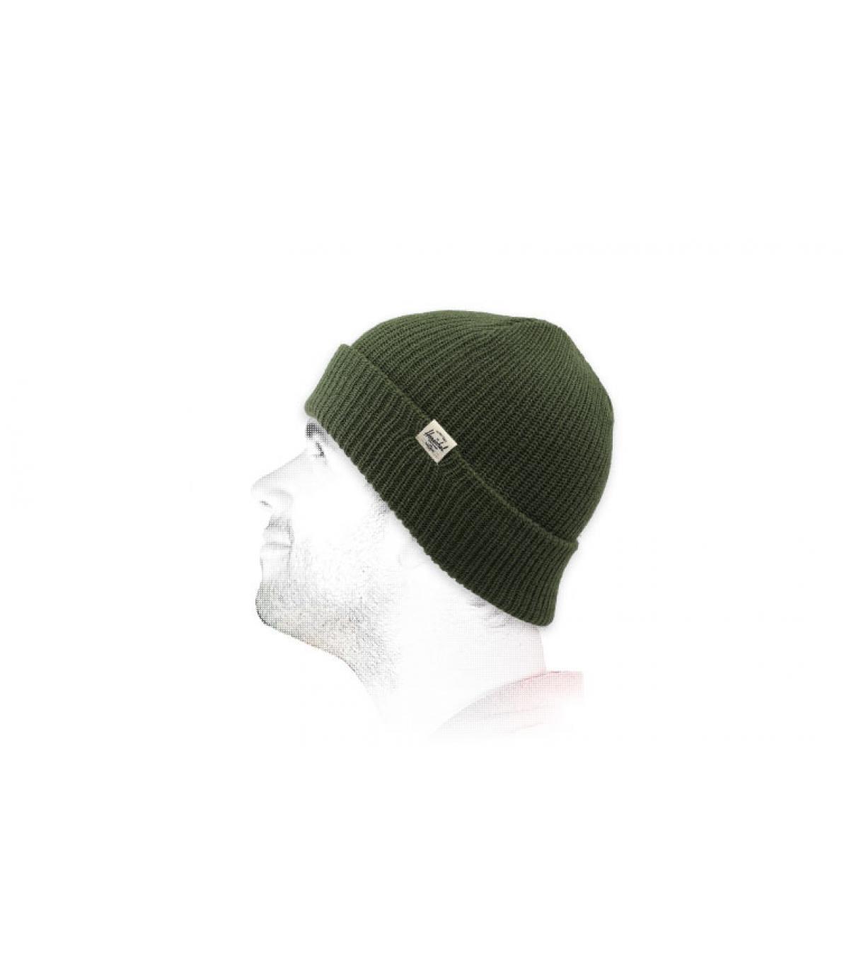 Mütze mit Rand Herchel grün