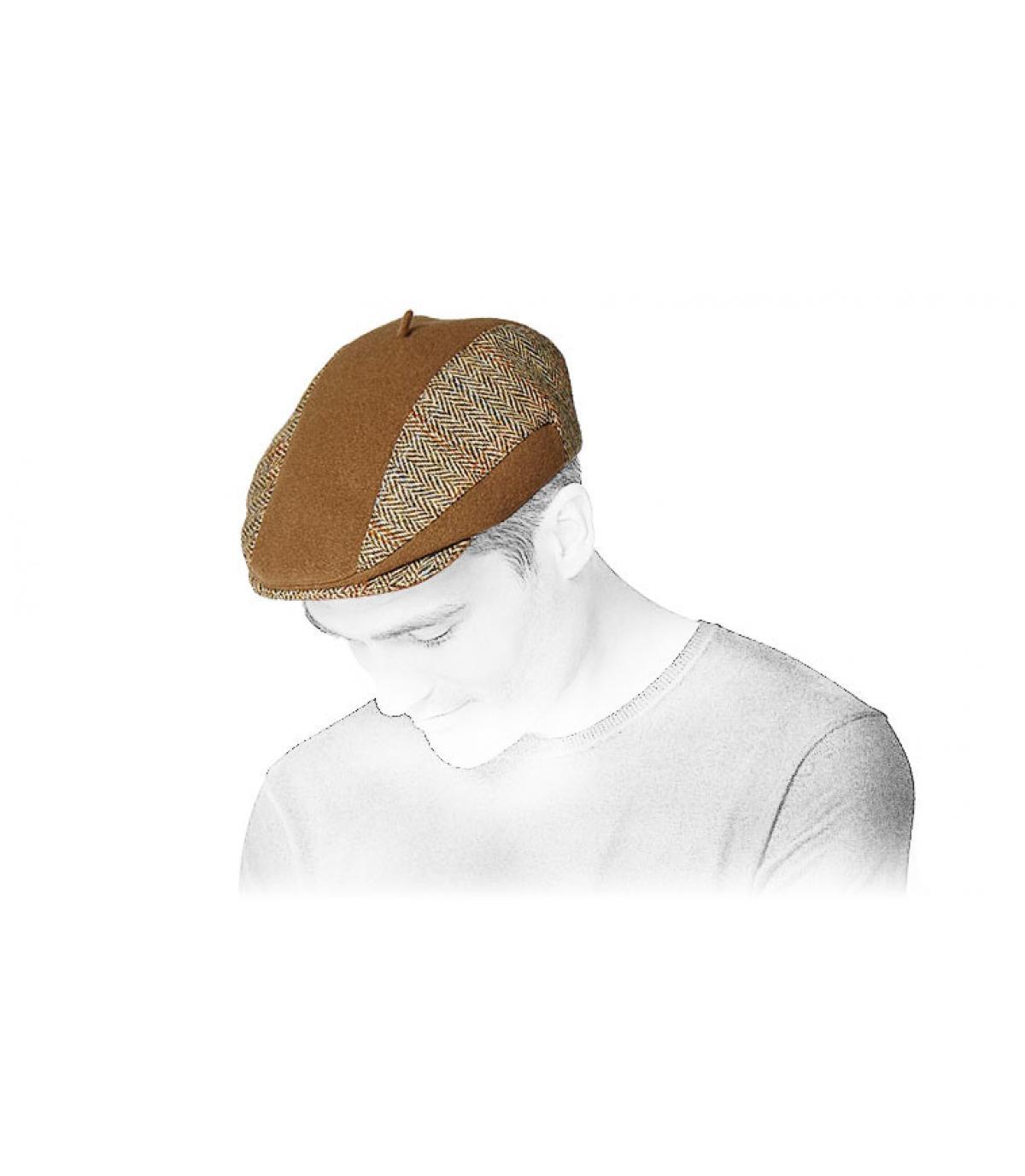 Harrys Cap Tweed beige