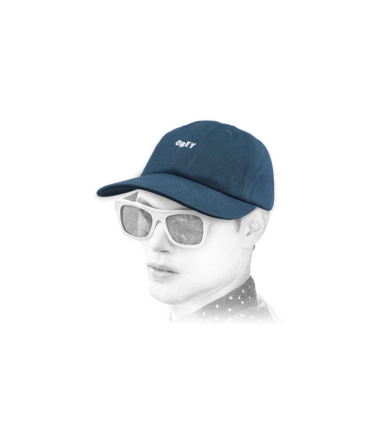 Cap blau Obey