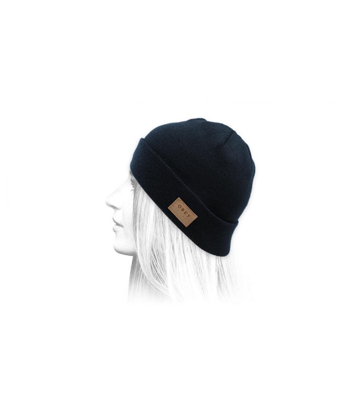 Mütze mit Rand blau Obey