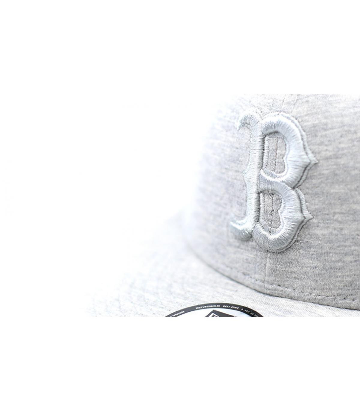 Details Snapback Jersey Ess 9Fifty Boston light grey - Abbildung 3