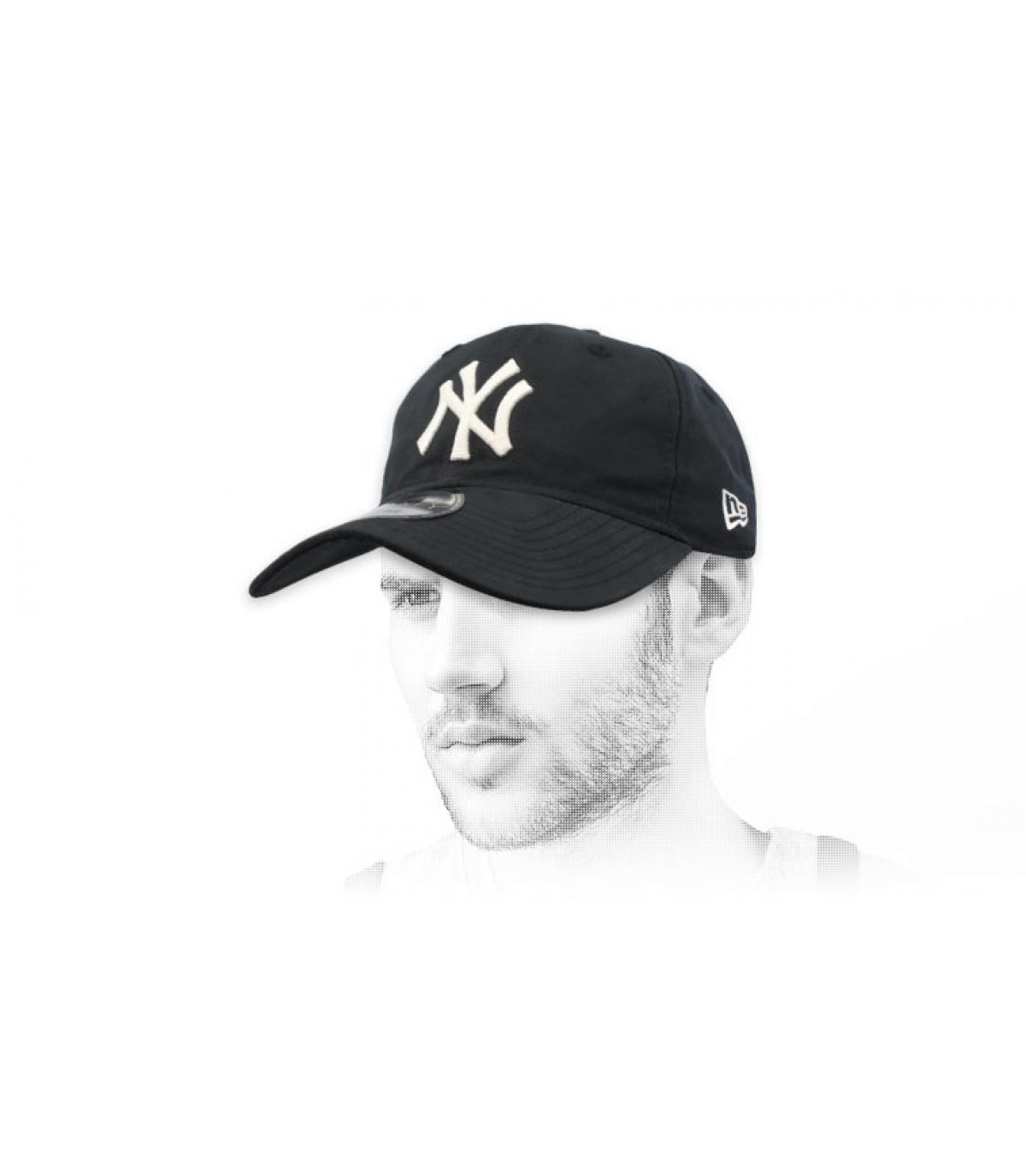 Cap NY klappbar schwarz