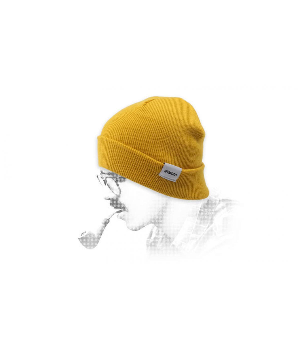 Mütze mit Rand gelb Wemoto