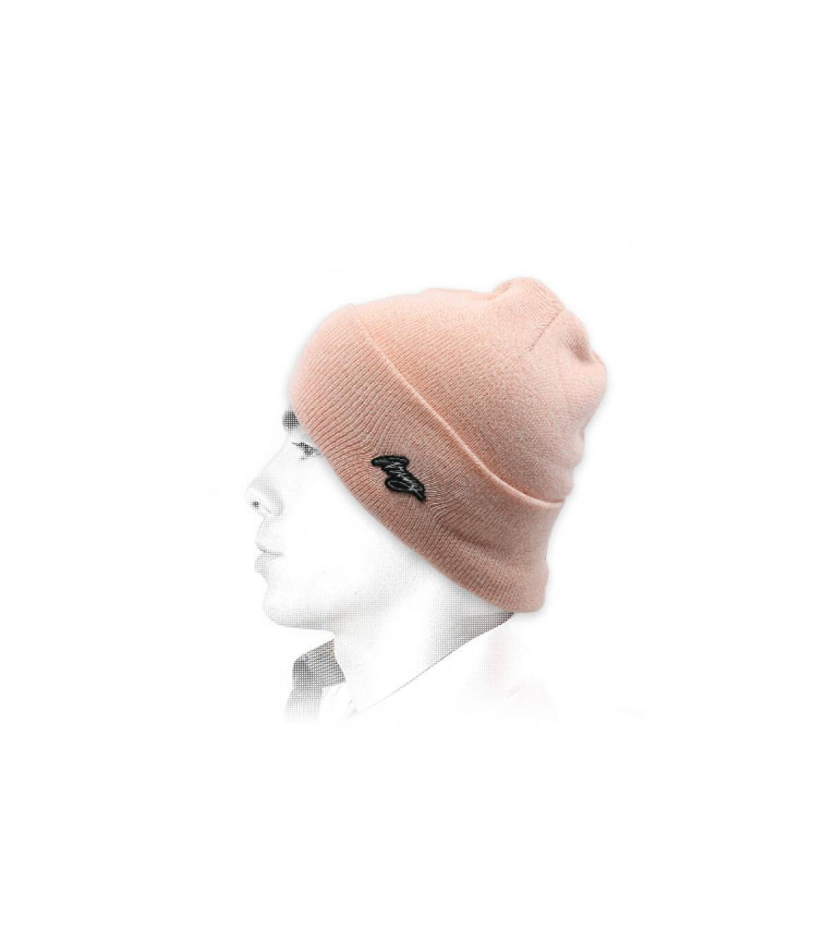 Mütze mit Rand Wrung rosa