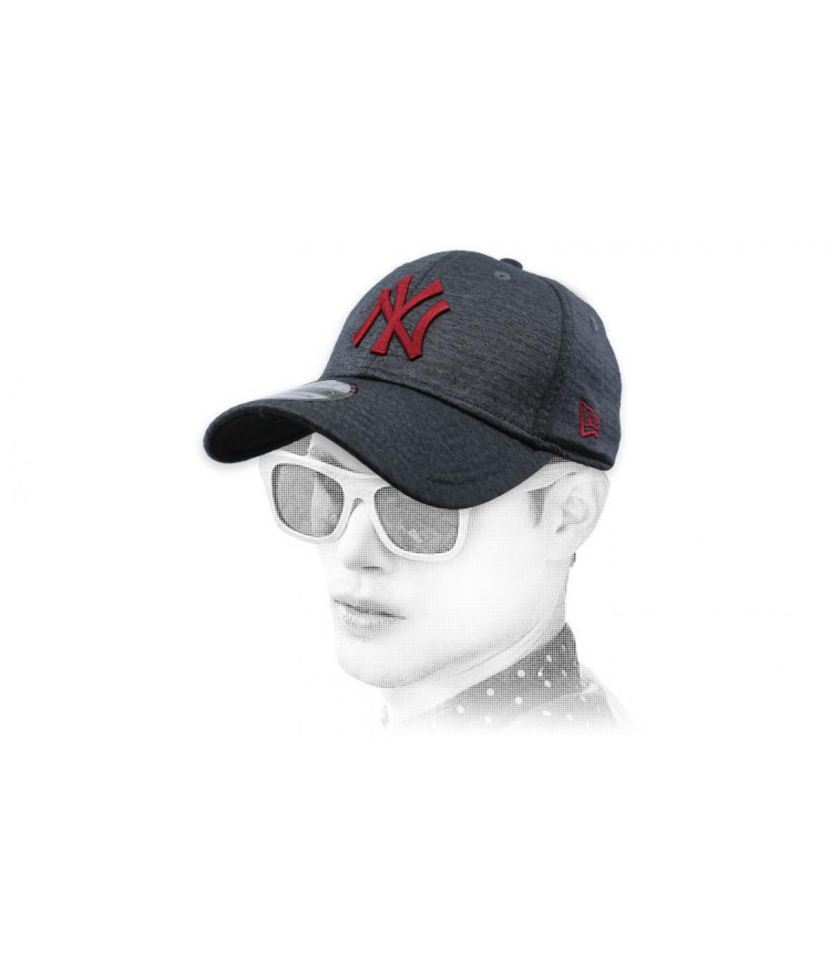 Cap NY schwarz grau