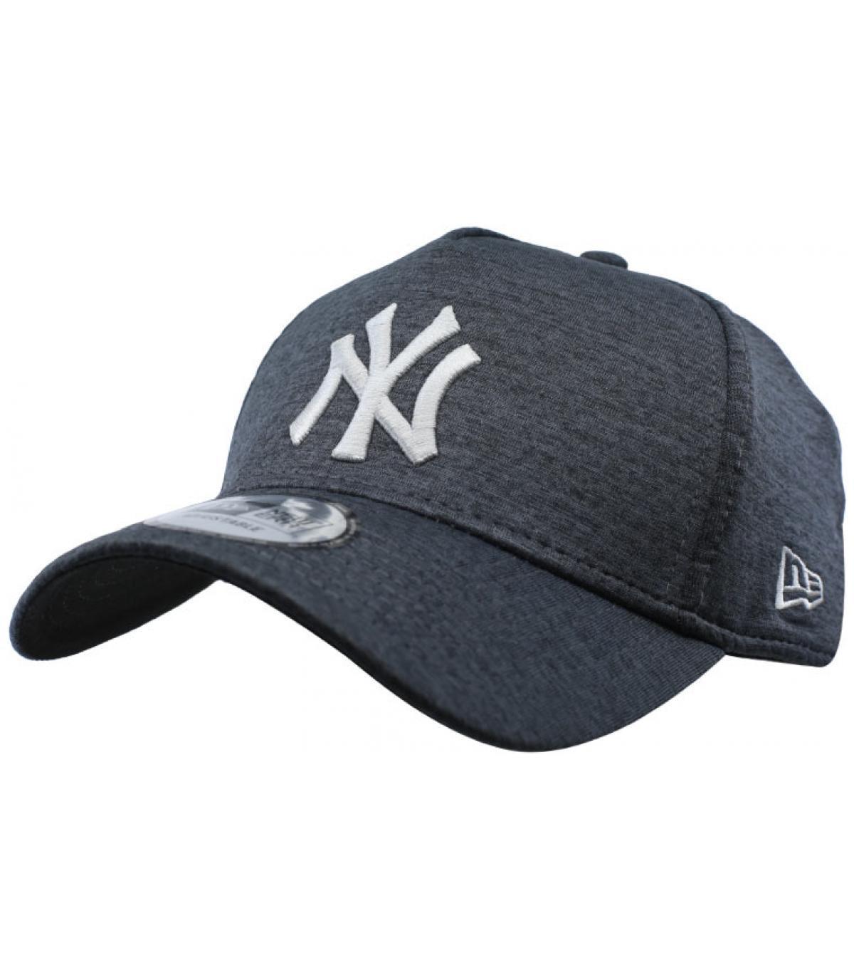 Cap NY schwarz grau Aframe