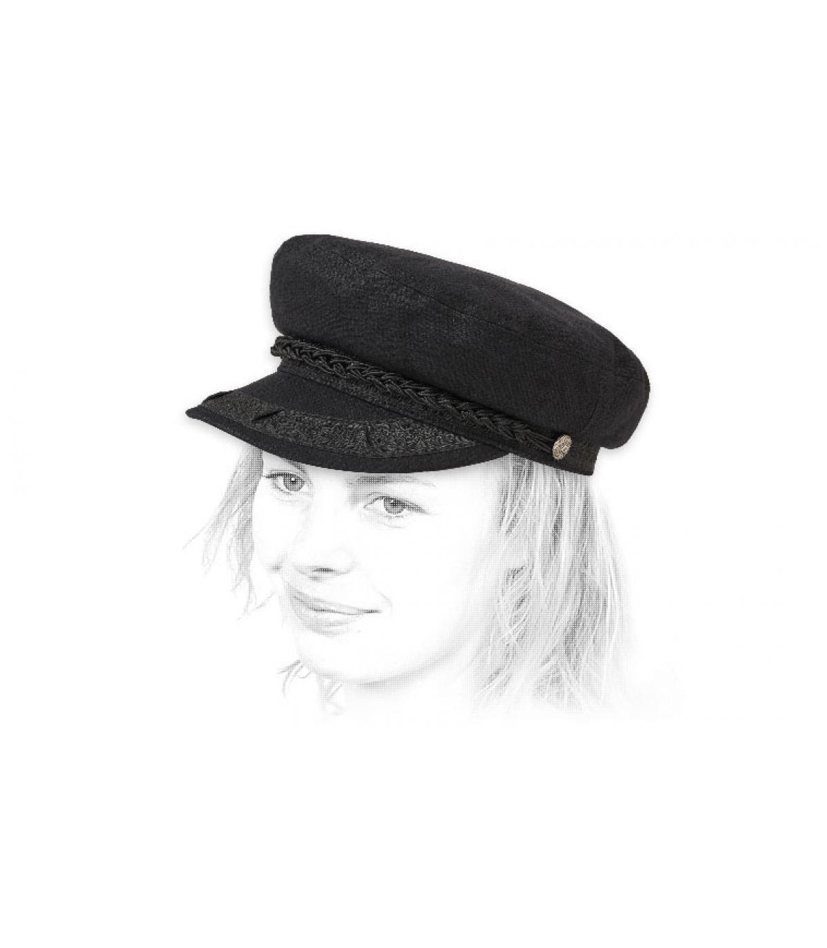 Seemanns Mütze schwarz Brixton