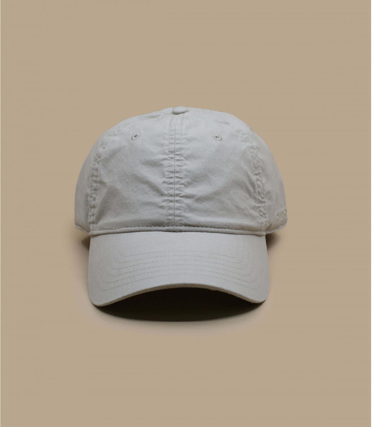 beigefarbener stetson trucker cap