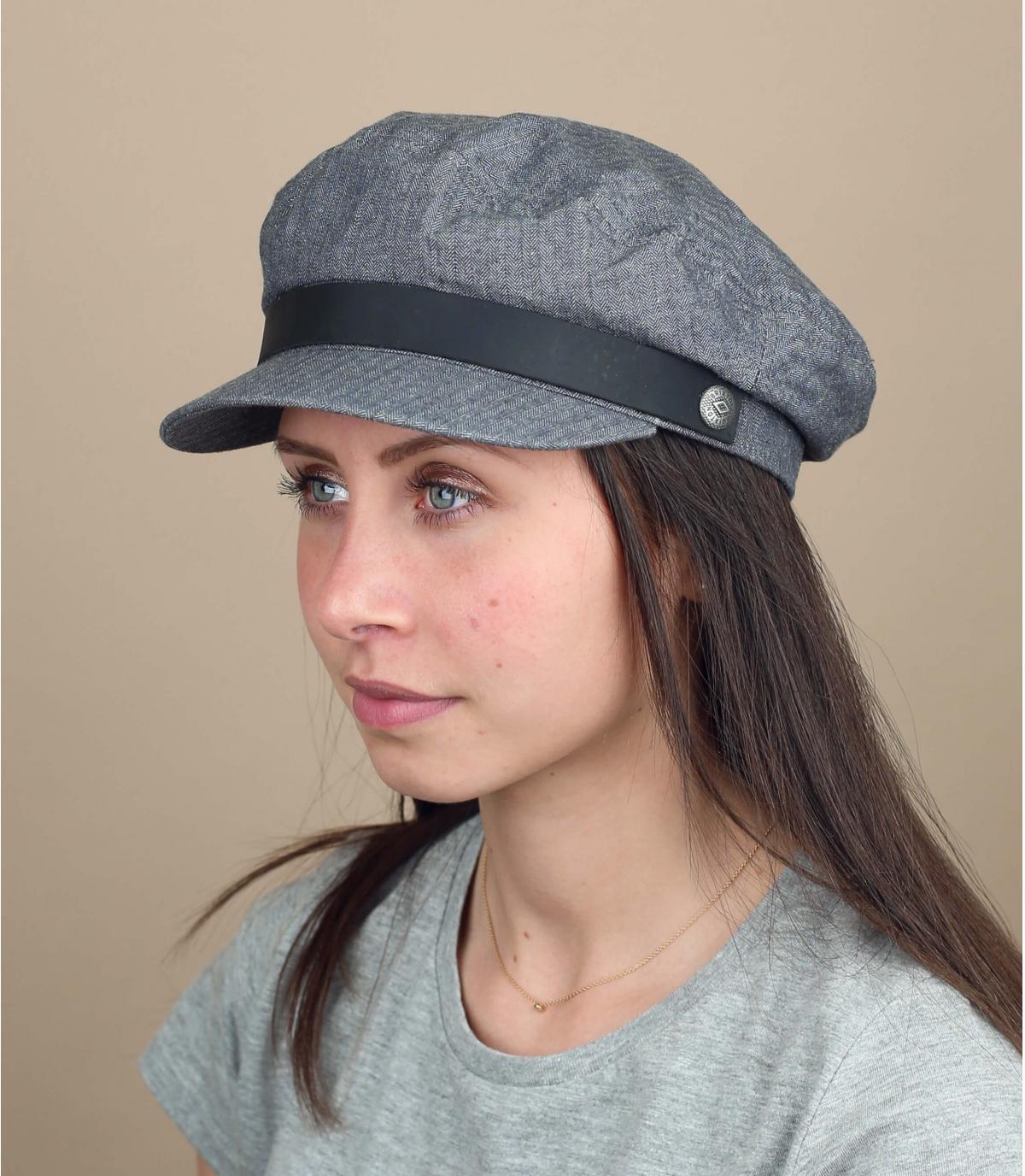 Damen Seemannscap grau