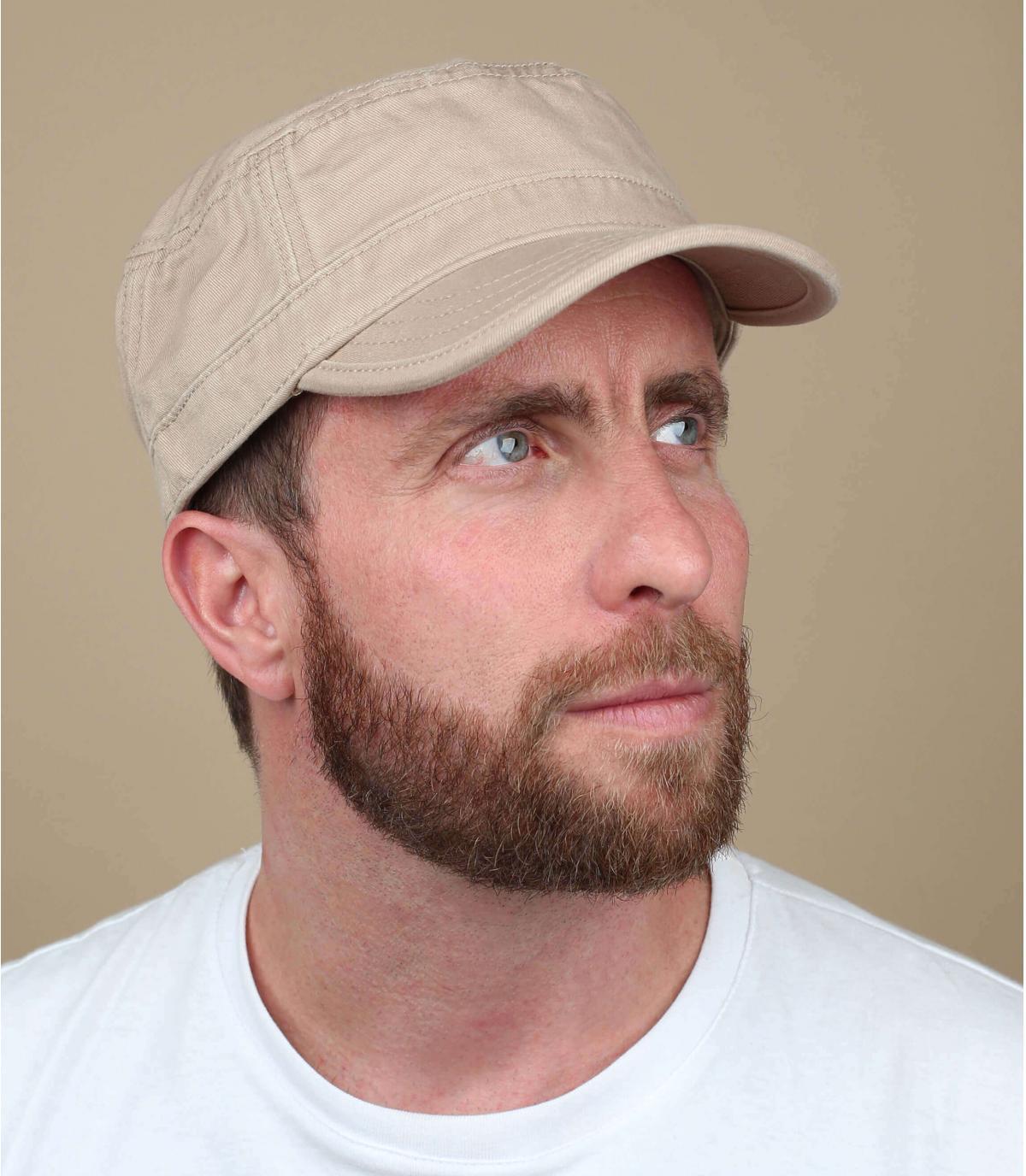 Basic beigefarbene Army Cap