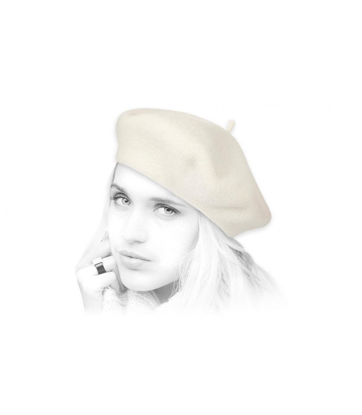 Barett Wolle beige Laulhère