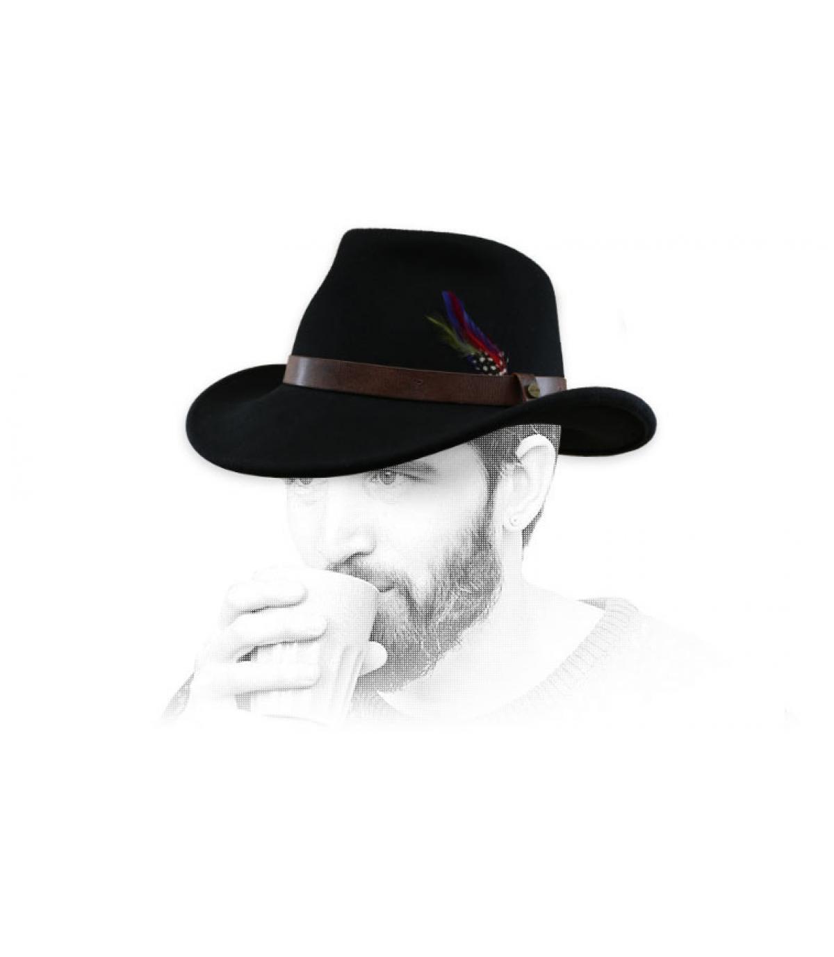 Cowboy Filzhut schwarz