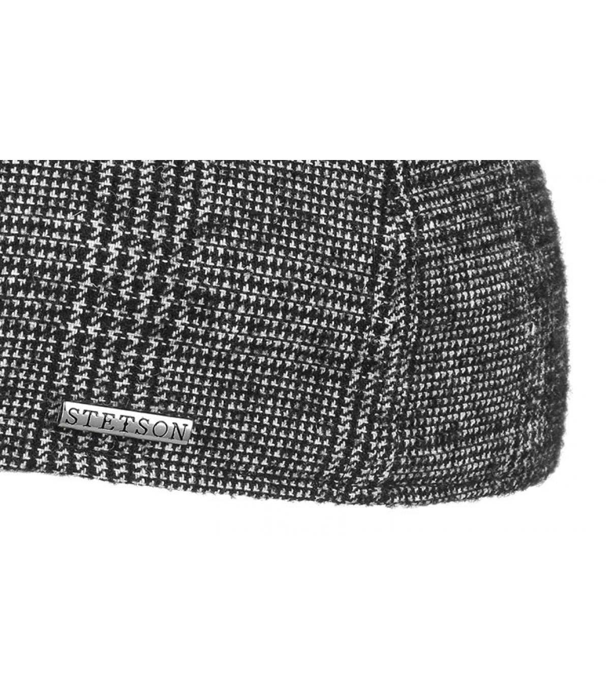 Details Texas Wool black white check - Abbildung 3