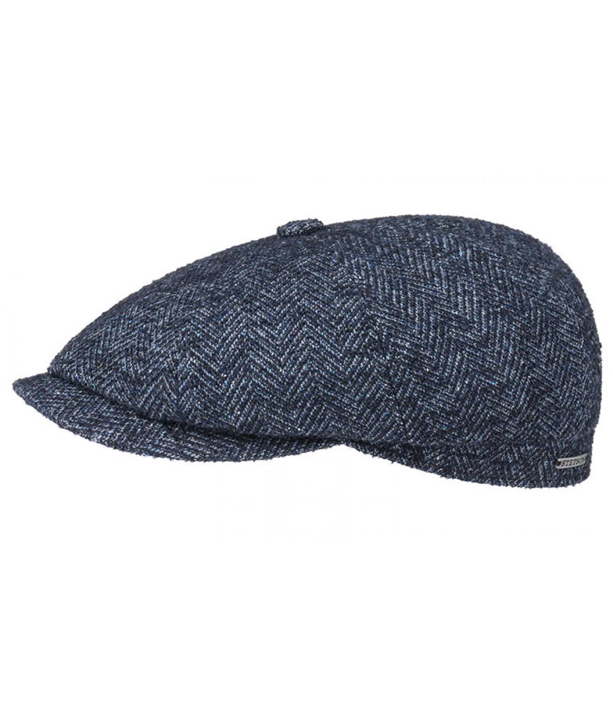 Details Hatteras Virgin Wool blue herringbone - Abbildung 2