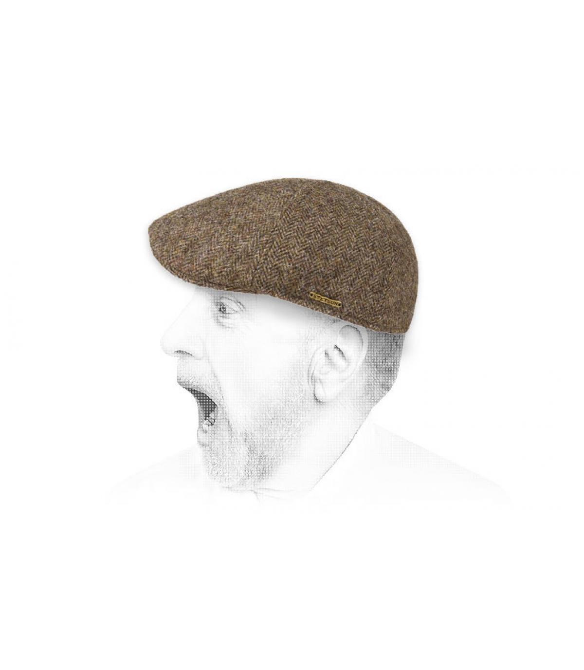 Duckbill Cap braun Wolle