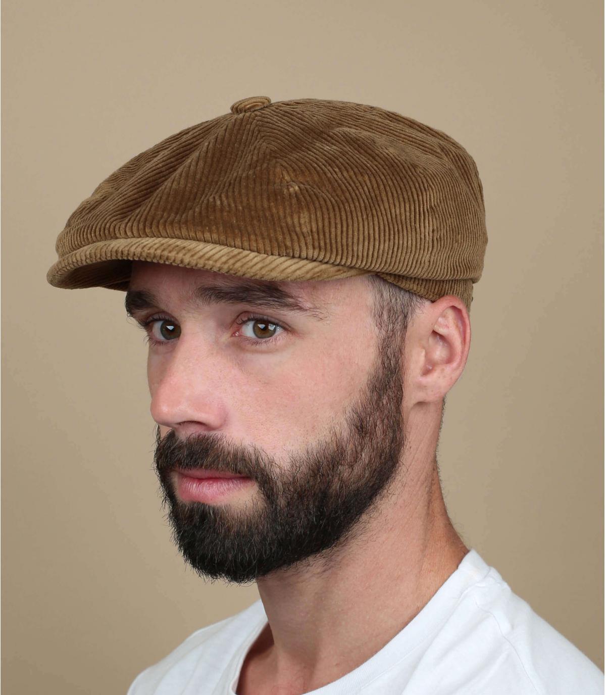 Newboy Cap Cord Velours beige