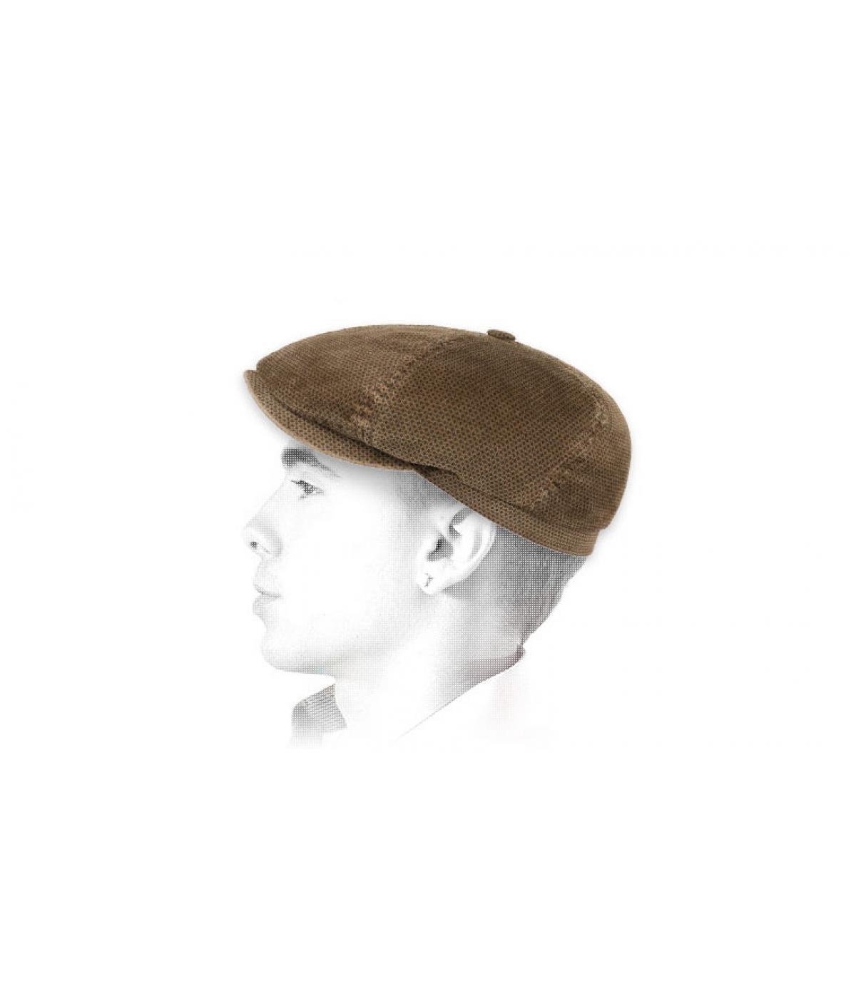 Newboy Cap Cord Velours braun