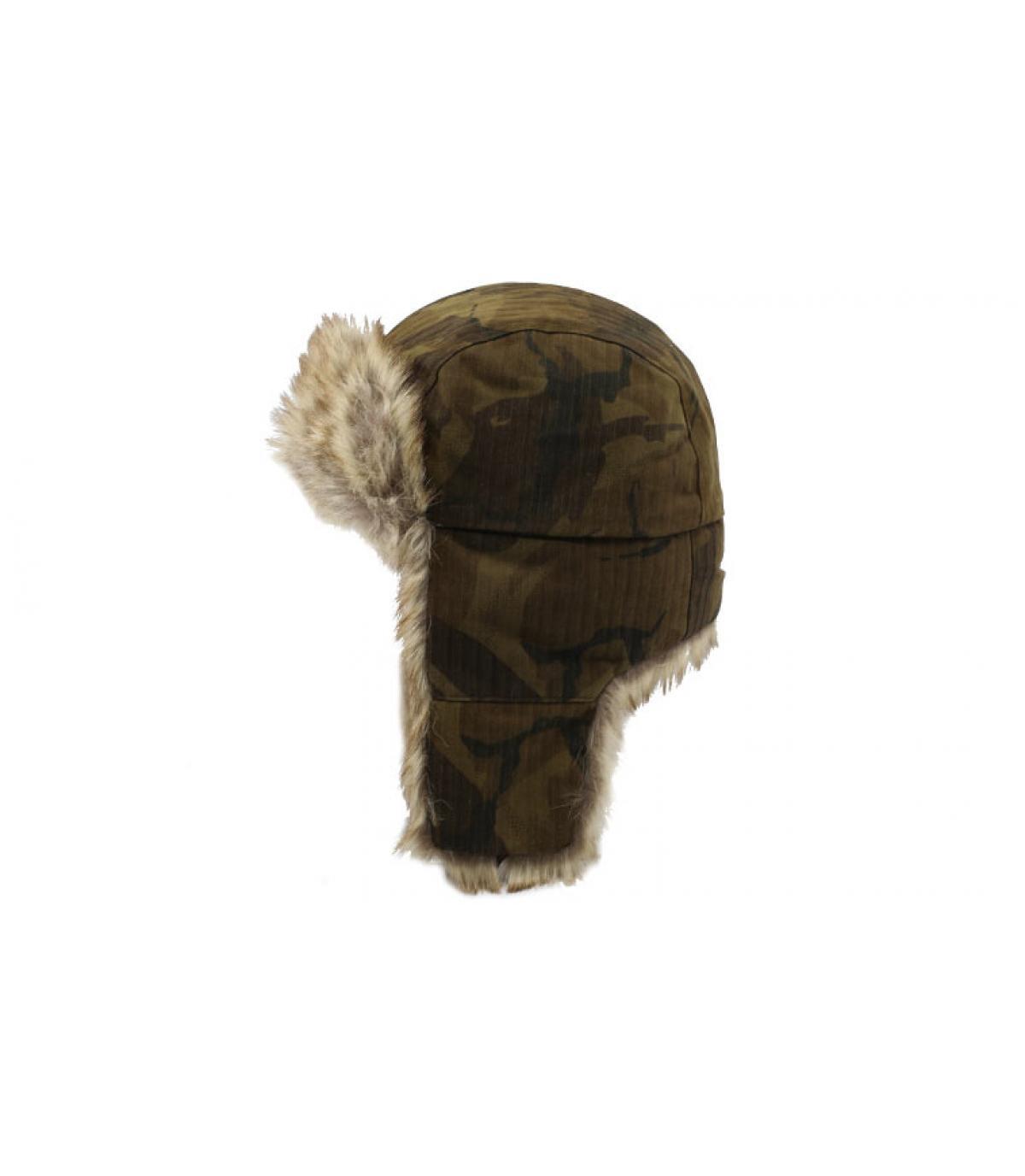 Details Bomber Cap Waxed Cotton Camouflage - Abbildung 2