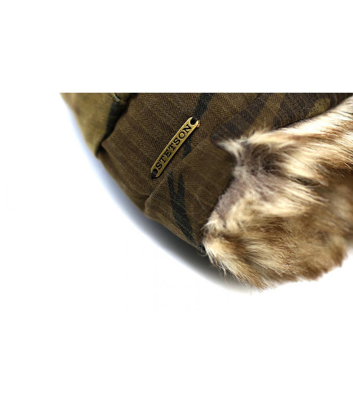 Details Bomber Cap Waxed Cotton Camouflage - Abbildung 3