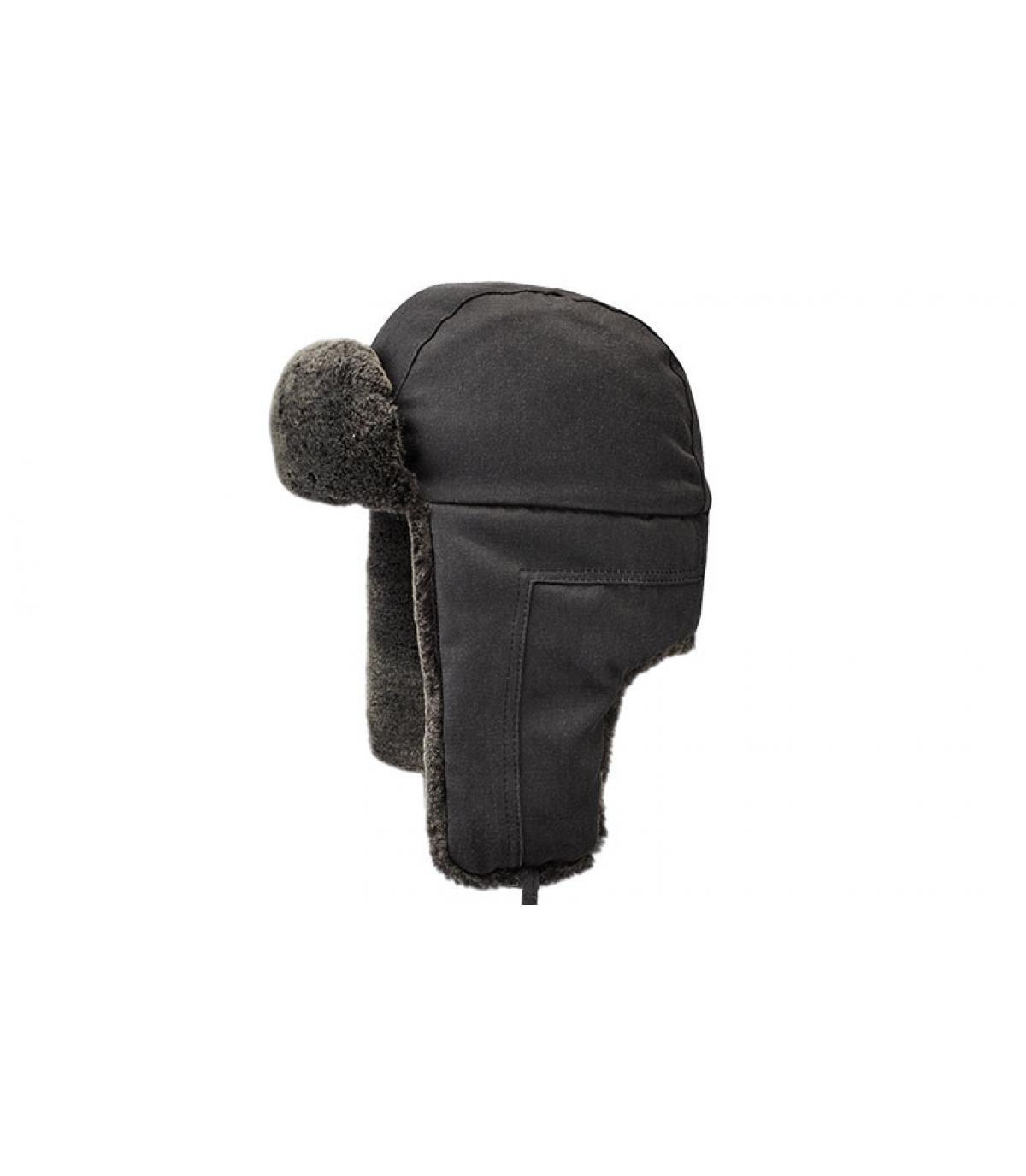 Details Bomber Cap CO PE Fake Fur black - Abbildung 2