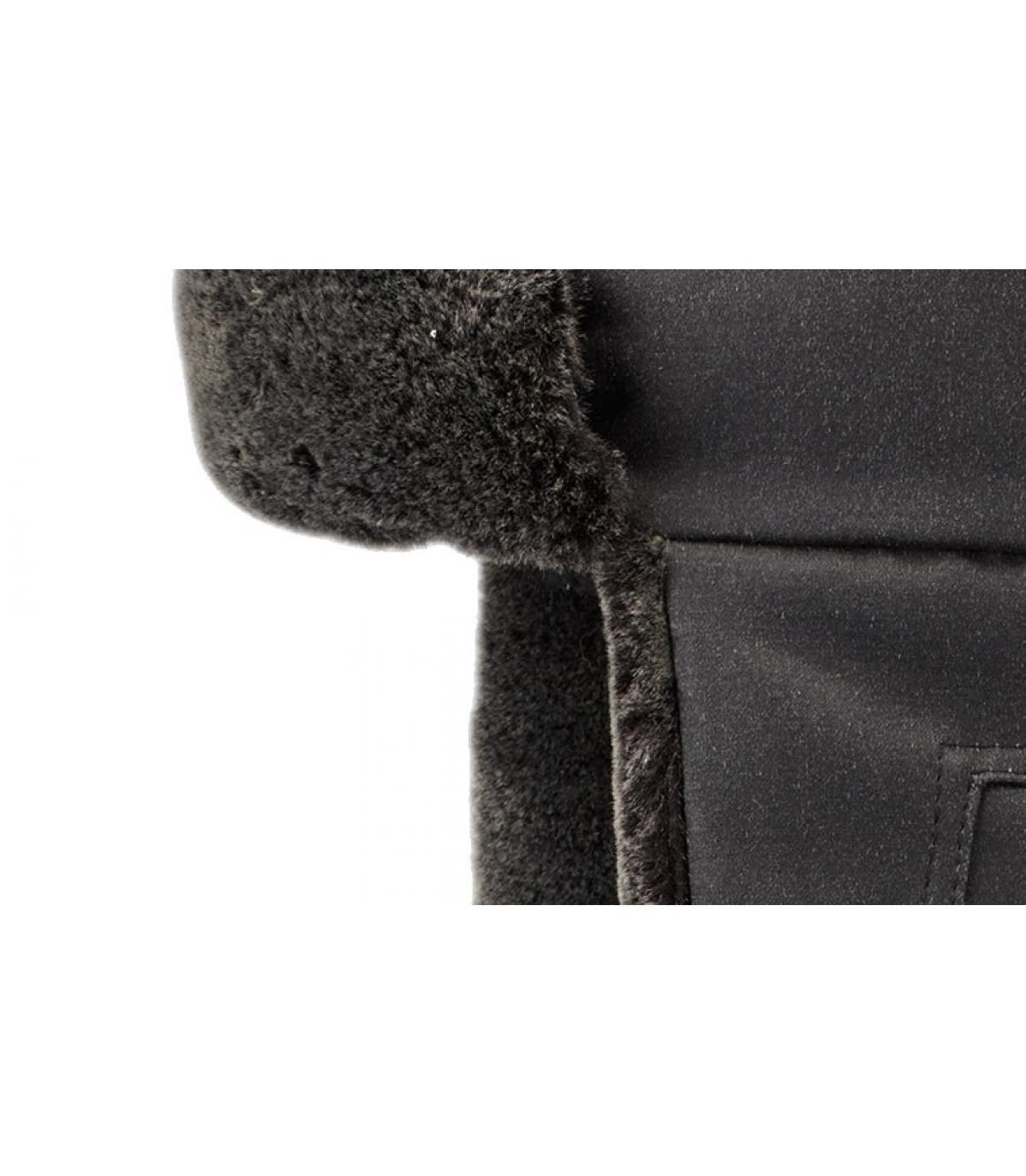 Details Bomber Cap CO PE Fake Fur black - Abbildung 3
