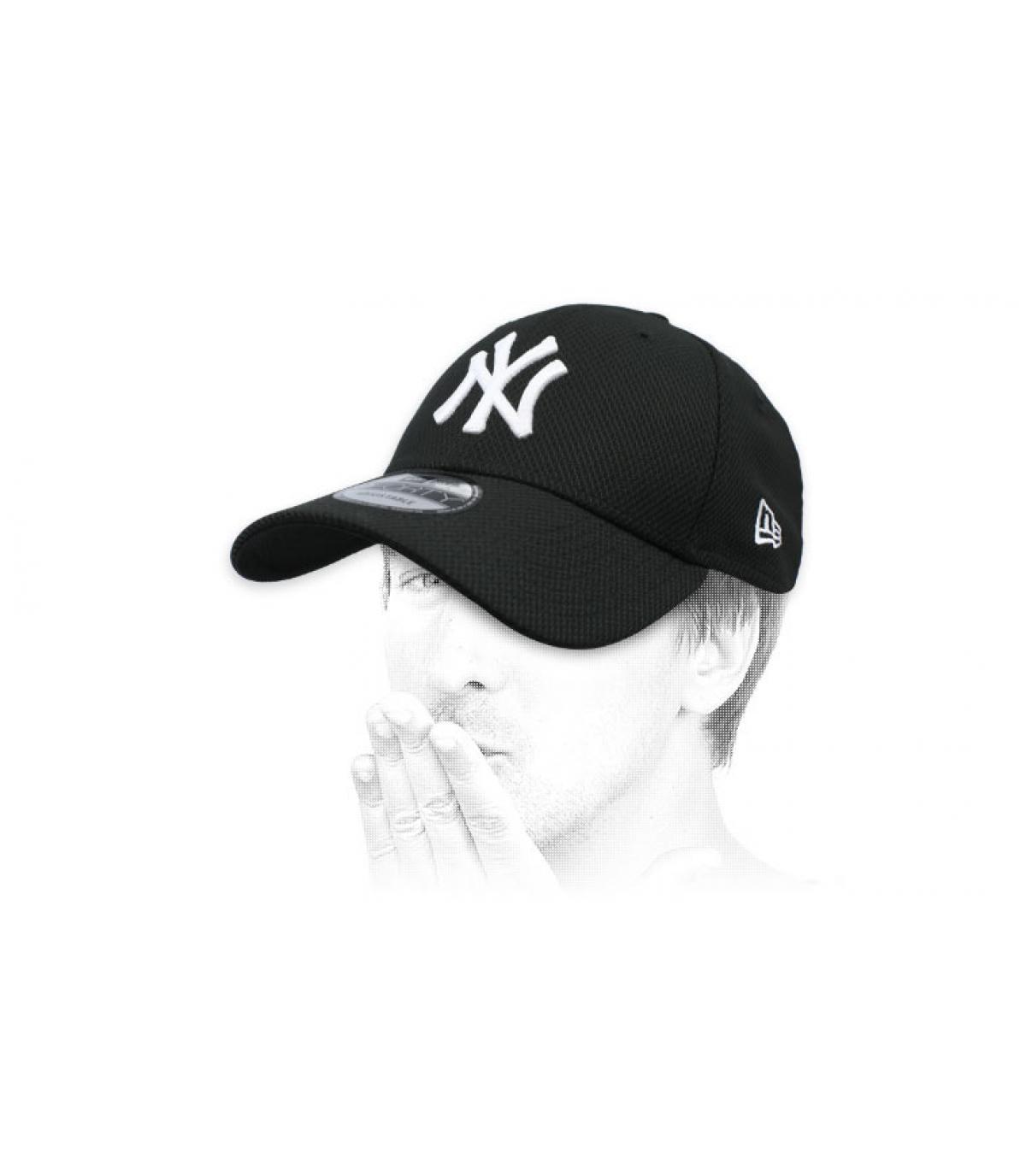 Cap schwarz NY Diamond