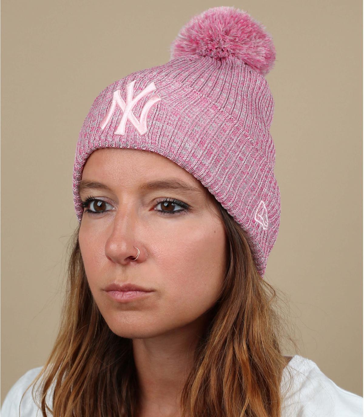 Mütze rosa NY