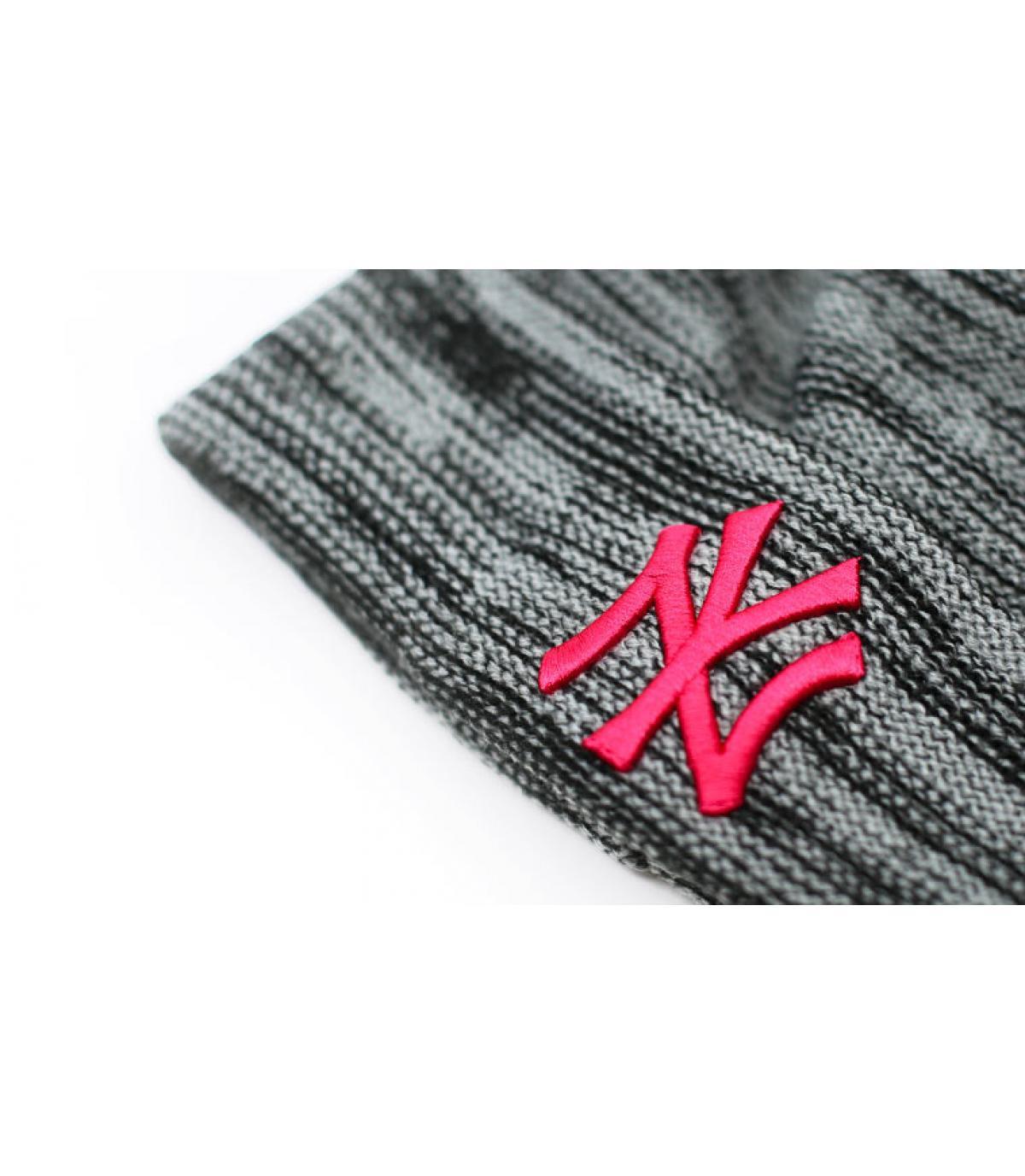 Details Mütze Wmns NY Marl Knit gray beetroot - Abbildung 3