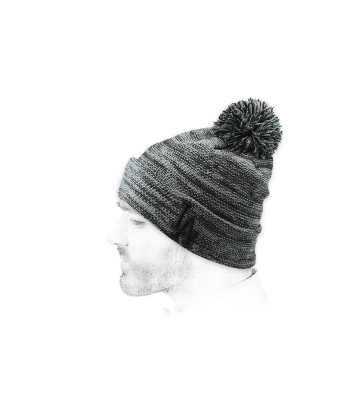 Mütze LA grau meliert