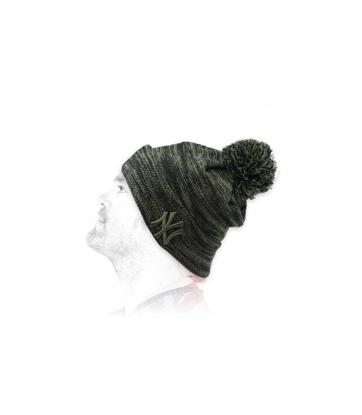 Mütze NY schwarz grün