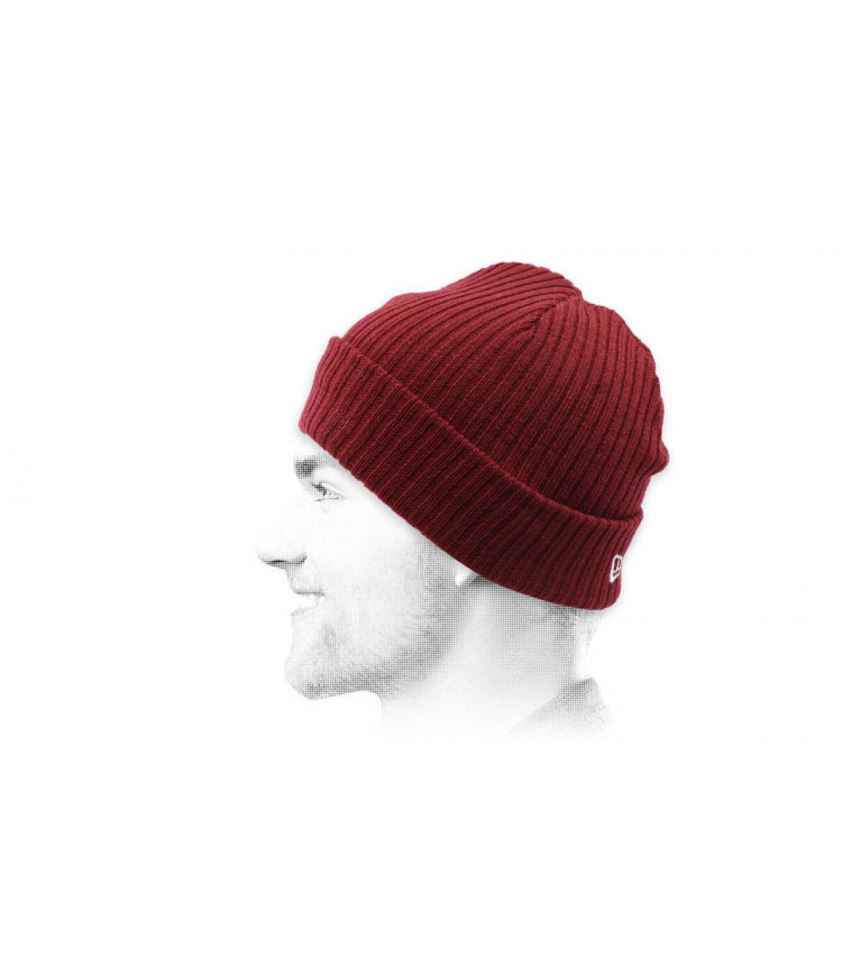 Mütze docker bordeaux