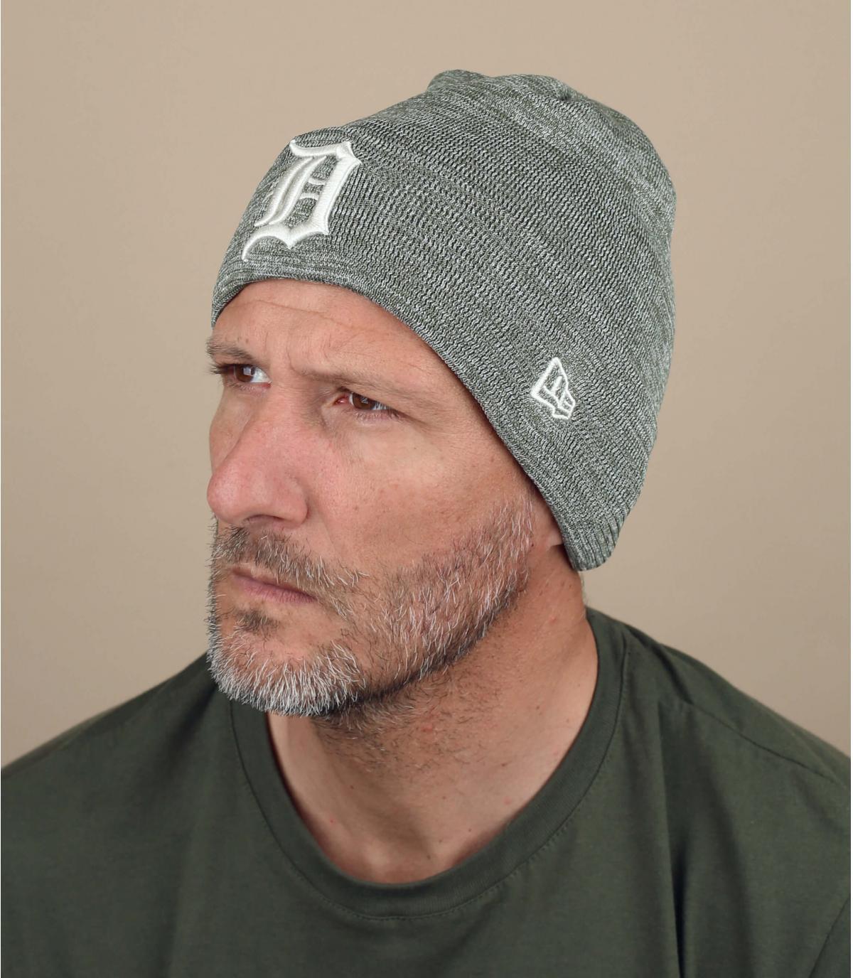 Mütze Detroit grau