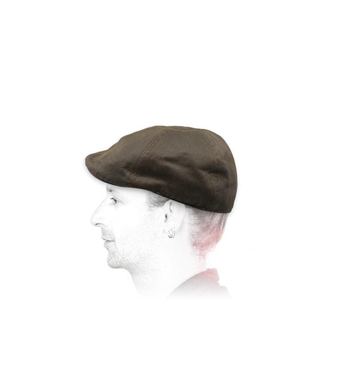 Duckbill Cap braun Baumwolle